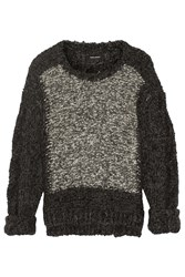 Isabel Marant Sao Chunky Knit Alpaca And Wool Blend Sweater Gray