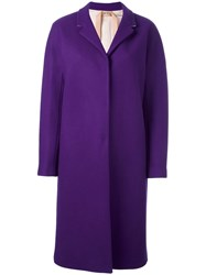 N 21 No21 Long Length Single Breasted Coat Pink Purple