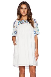 Kas Kajol Short Sleeve Mini Dress White