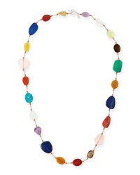 Carnival Large Multi Stone Necklace 35'L Margo Morrison