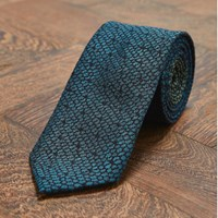Marwood Teal Lace Jacquard Tie