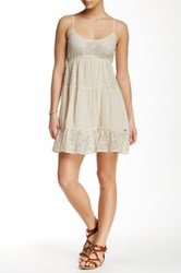 Rip Curl Dreamweave Babydoll Dress Beige