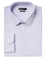 Bar Iii Men's Slim Fit Lavender Sateen Check Dress Shirt Only At Macy's
