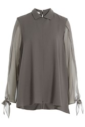 Nobi Talai Blouse With Wool And Silk Grey