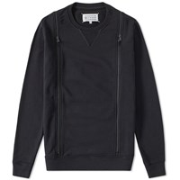Maison Martin Margiela Maison Margiela 10 Double Zip Crew Sweat Black