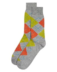Bloomingdale's The Men's Store At Genova Argyle Socks Light Grey