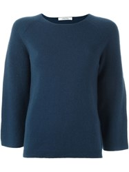 Dorothee Schumacher Bell Sleeve Sweater Blue