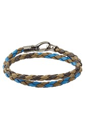 Tod's Tods Braided Leather Bracelet Multicolor