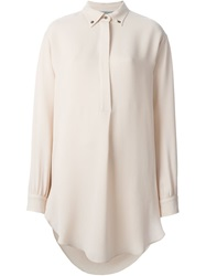 Dusan Buttoned Collar Shirt Pink And Purple