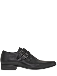 Underground 25Mm Buckled Soft Leather Shoes Black