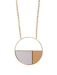 Aurelie Bidermann Bianca Mirrored Yellow Gold Plated Long Necklace