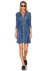 The Kooples Button Down Denim Dress Blue