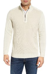 Tommy Bahama Men's 'Coastal Shores' Quarter Zip Sweater French Clay