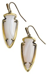 Kendra Scott Women's 'Katelyn' Drop Earrings White Agate Antique Brass