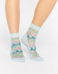 Asos Mermaid Scale Sheer Socks Multi