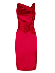 Hotsquash Clever Silk Knee Length Dress Red