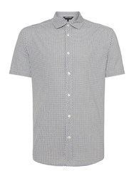 Army And Navy Gingham Check Shirt Grey