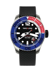 Red8usa Dive Automatic Titanium And Rubber Strap Watch Blue Black Multi