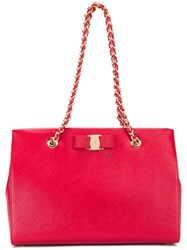 Salvatore Ferragamo 'Melike' Shoulder Bag Red