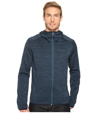 Merrell Fraxion Hoodie Blue Spruce Heather Men's Long Sleeve Pullover