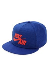 Men's Nike 'Air Pivot True' Snapback Baseball Cap Blue Deep Royal Blue Light Crimson