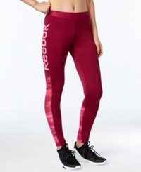 Reebok Speedwick Logo Leggings Rebel Berry
