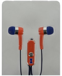 Mizco Illinois Fighting Illini Earbuds Team Color