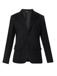 Dolce And Gabbana Peak Lapel Knitted Blazer