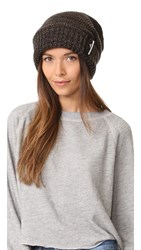 Adidas By Stella Mccartney Ski Beanie Black Solid Grey Natural Stone