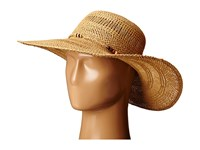 Lauren Ralph Lauren Paper Straw Open Weave Tassel Beach Hat Natural Traditional Hats Beige
