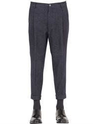 Berwich 17Cm Stretch Wool And Cotton Pants