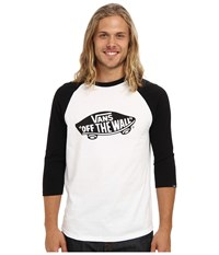 Vans Otw Raglan White Black Men's Long Sleeve Pullover
