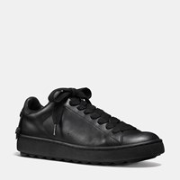 Coach Leather C101 Low Top Sneaker Black Black