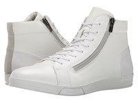 Calvin Klein Berke White Emboss Leather Men's Lace Up Boots