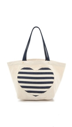 Deux Lux Striped Love Tote Navy Stripe
