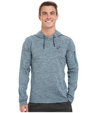 Asics Over Head Hoodie Mosaic Blue Heather Men's Long Sleeve Pullover
