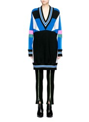 Emilio Pucci Colourblock Oversized Merino Wool Sweater Multi Colour