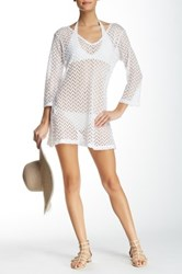 J Valdi V Neck Cover Up White
