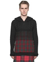 Versus Gradient Plaid Wool Blend Sweater