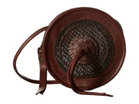 Frye Layla Concho Circle Bag Redwood Smooth Vintage Leather Cut Leather Shoulder Handbags Brown