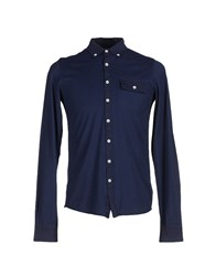 Cooperativa Pescatori Posillipo Shirts Shirts Men Dark Blue