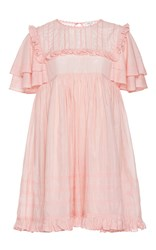 Manoush Ruffle Sleeve Babydoll Dress Pink
