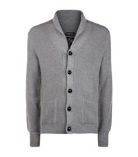 Tom Ford Chunky Ribbed Steve Mcqueen Cardigan Male Grey