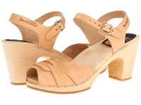 Swedish Hasbeens Peep Toe Super High Nature Women's Sandals Neutral