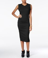 Bar Iii Ruched Midi Dress Only At Macy's Deep Black