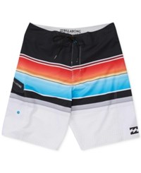 Billabong Men's All Day Platinum X Stripe Boardshorts Neo Neon