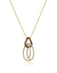 Le Vian Chocolatier Linking Vanilla And Chocolate Diamond And 14K Honey Gold Pendant Necklace Yellow Gold