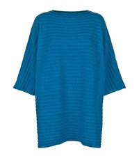 Eskandar Ribbed Oversized Top Female Blue