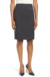 Boss Women's Vileana Plaid Stretch Wool Pencil Skirt