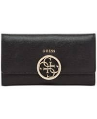 Guess Devyn Slim Clutch Wallet Black Pebble